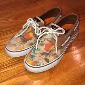 Sperry Top-Sided Women's floral shoe size 6